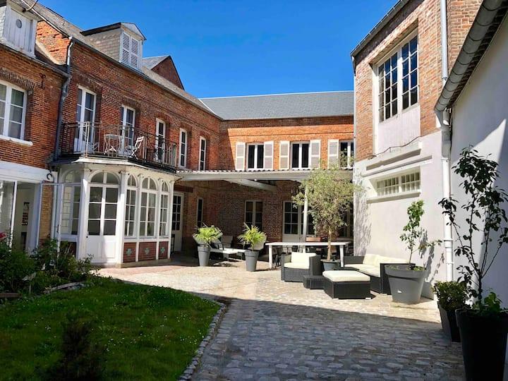 Normandie grande maison bourgeoise près des plages
