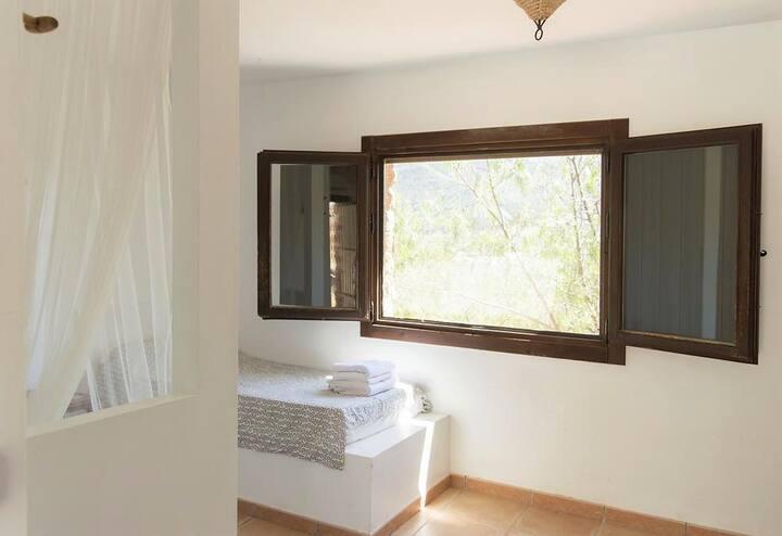 Habitación doble cama individual con vistas