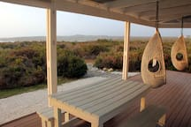 Sun setting over the fynbos fauna and flora
