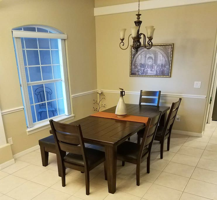 Main/large dining table/area