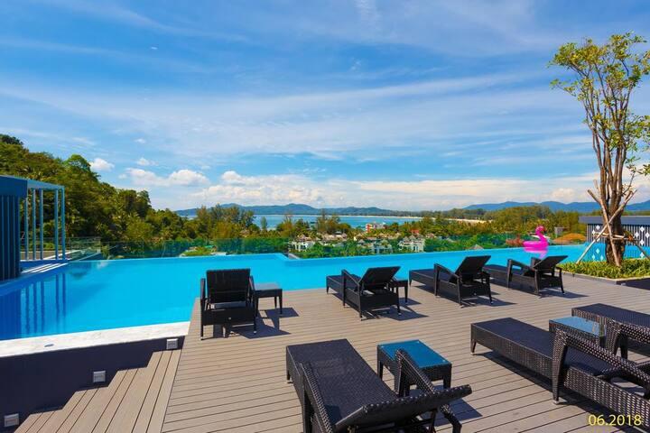 Lovely Studio Apartment 360° views @Surin Beach