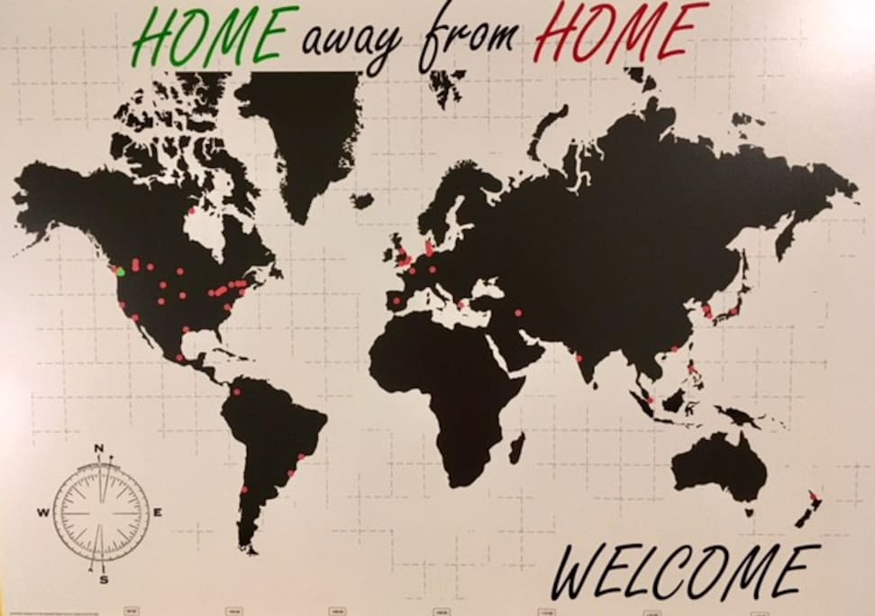 "Your ""home away from home"".  We would love to add your city on our map."