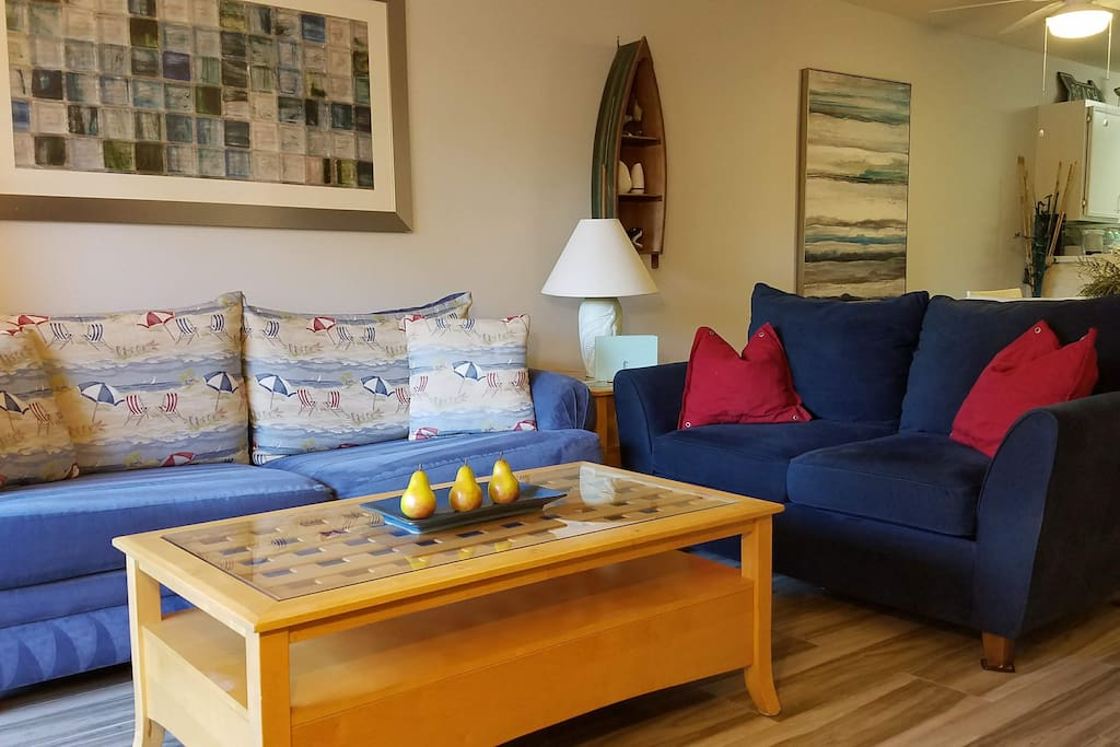 Comfortable seating in the main living area