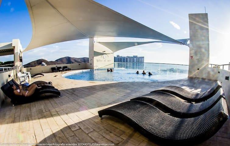 NUEVO en RODADERO en Velas al Mar. Super Luxury