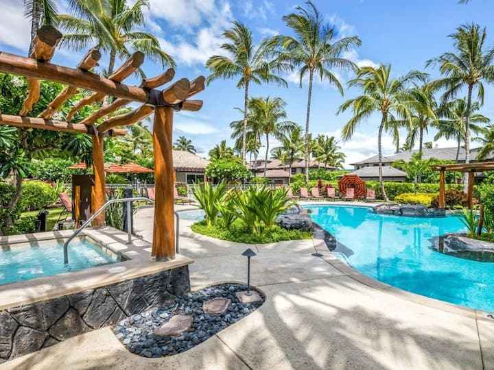 Mauna Lani Golf Villa! Club Access, AC, Pool, Spa!