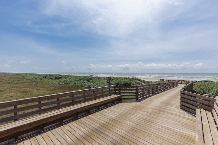 Speed to the beach with the easy, golf cart accessible boardwalk!