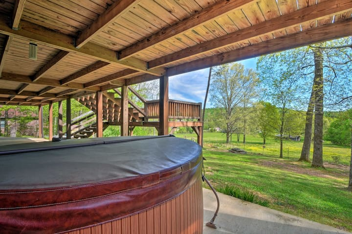 Ready for bliss? Slip into this private hot tub and soak up the scenic views.