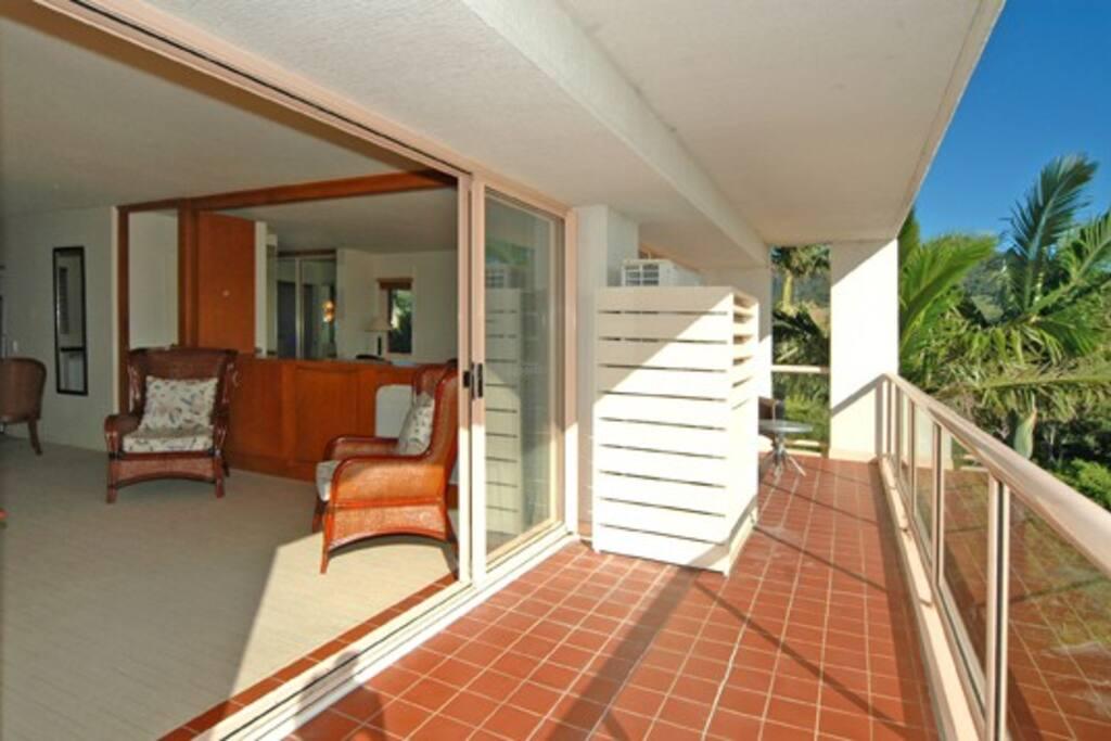 Spacious verandah