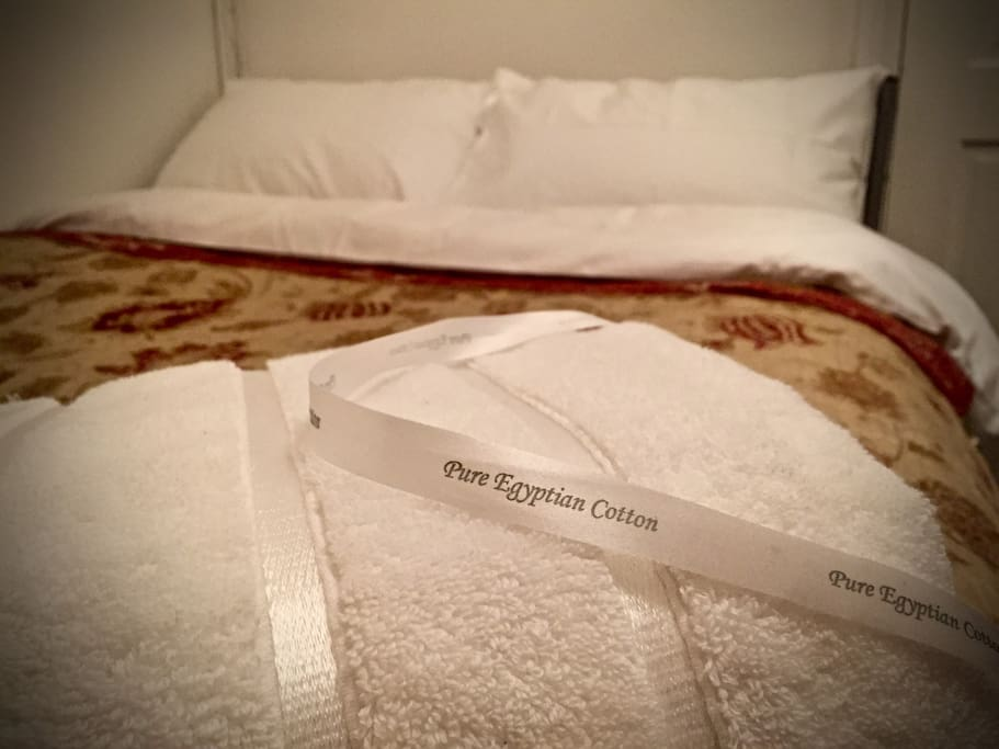 These super silky, sumptuous, soft Egyptian Cotton bed sheets on top of a luxury mattress with a memory foam topper combined with pillows as soft as marshmallows.... mmmm, get ready for a great nights sleep.