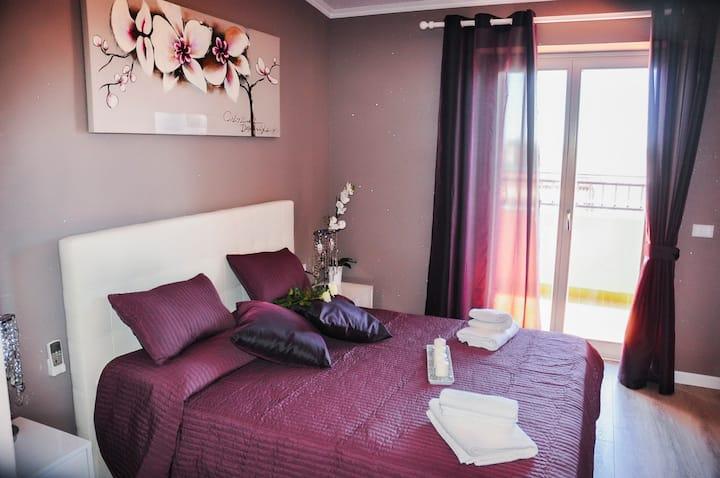 Villa Erasi B & B - Deluxe Doppelzimmer mit Balkon