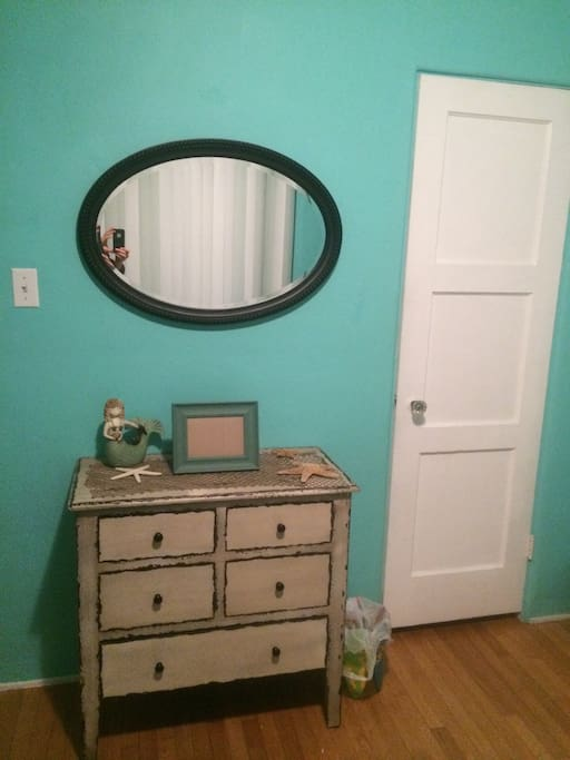 Two dressers available. One shown, one in the spacious closet located in the room.