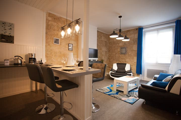 Beautiful renovated apartment in heart's Bourg