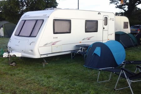 Any touring caravan site in Snowdonia/Wales.