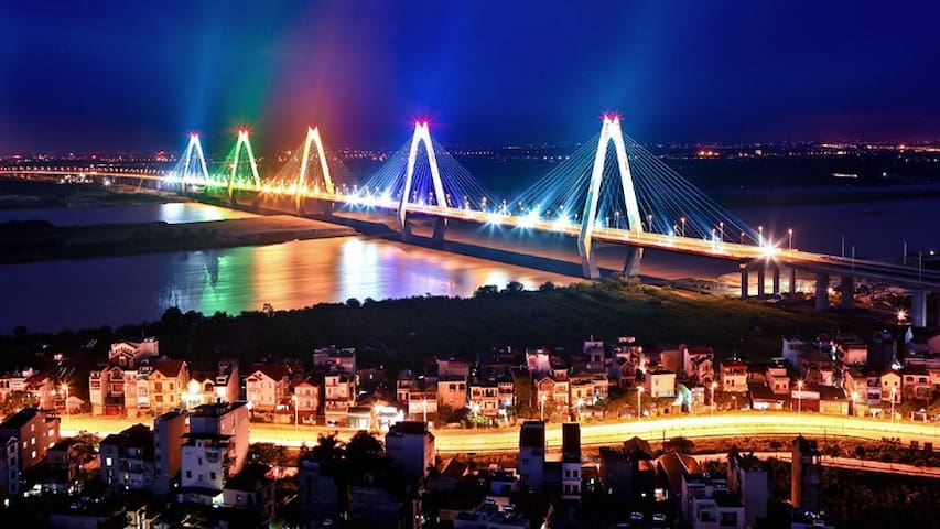 Beautiful view over Red river & Flower village - Hanoi - Appartement