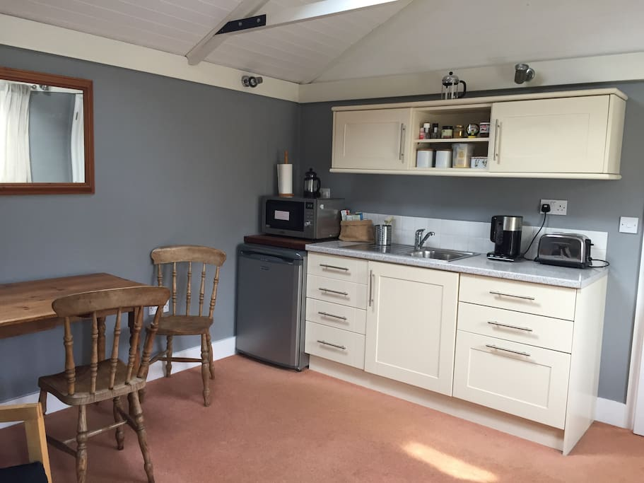 Simple kitchenette in living area