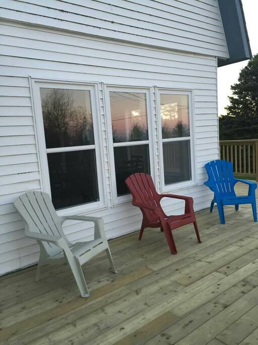 Sit back and relax on our newly constructed deck.  The deck is wheelchair accessible.
