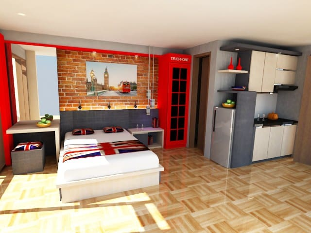 Apartemen di Pasteur bertema UK - Jawa Barat - Lägenhet