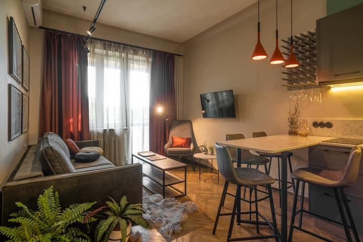 1 bedrooms flat with a terrace in the city center