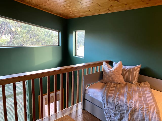 Loft with trundle bed and views!