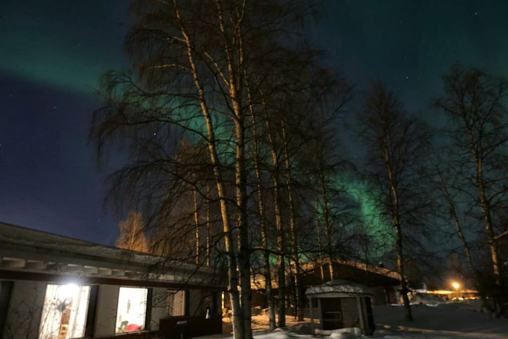 You might be lucky and see northern lights above our house