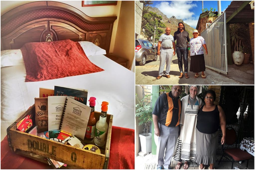 Impilo Yethu Homestay Welcome Basket and some of the AirBnb guests Miriam and Welcome have hosted!