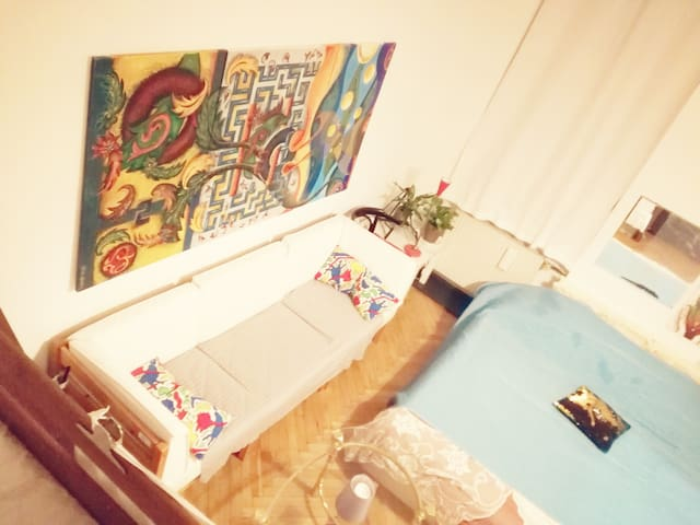bedroom i 18 minutes from centre pritce per room