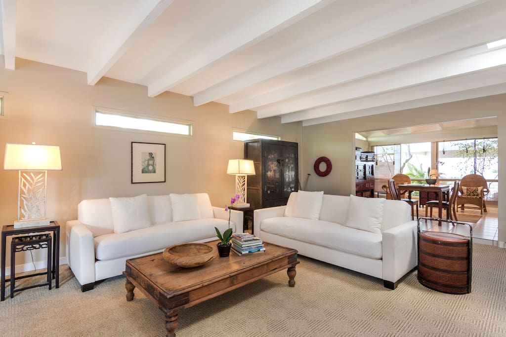 Main living room with comfortable couches