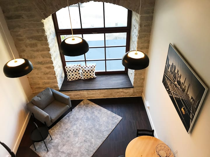New city center loft in historic factory building