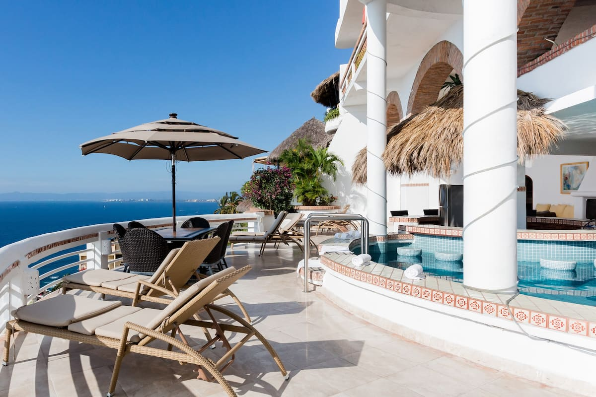 Take in Panoramic Views of Banderas Bay from Villa Azul