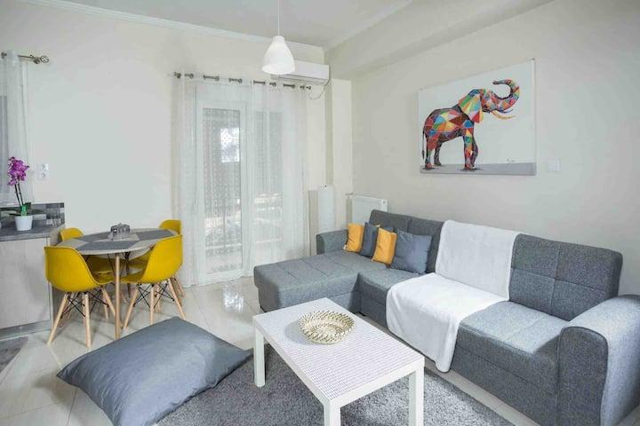 Modern apartment -5 min. Metro station Agia Marina