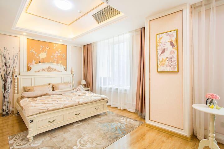 【温暖城市里的家】青泥洼商圈地铁沿线阳光充沛的公寓整租!