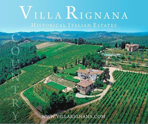 Suites Chianti organic wine estate-pool-tennis
