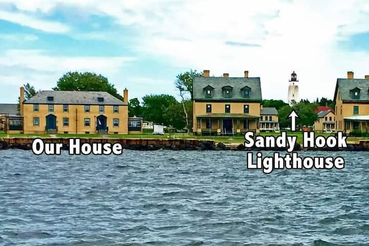 Bayfront Home on Sandy Hook  ( half of a duplex )