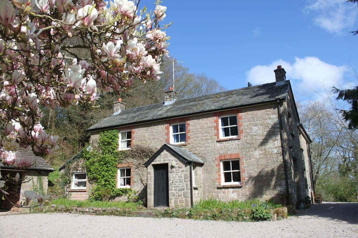 Church Hill Farm in Spring - the front of the house
