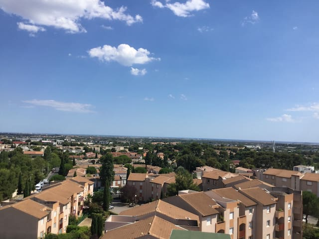 Appartement lumineux duplex avec vue sur la mer - Montpellier - Appartement en résidence
