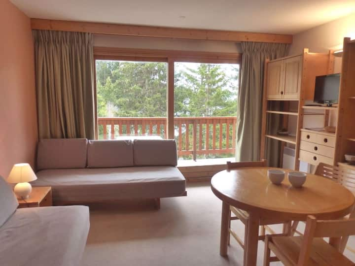 Studio for 4 persons in Meribel, Altiport area, close to the slopes and to the golf