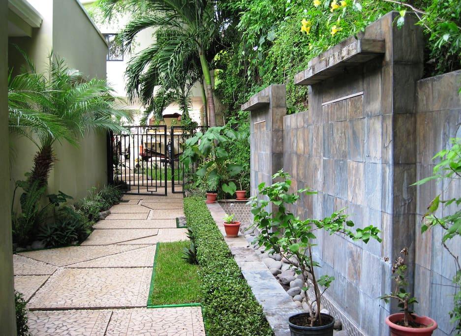 Garden entrance to the house