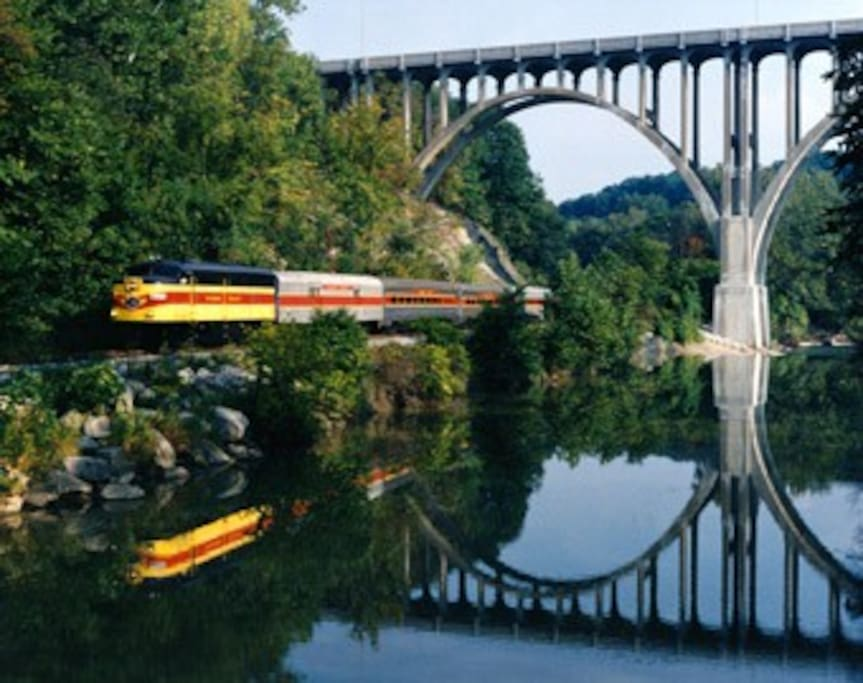 Cuyahoga Valley Scenic Railroad offers hikers and bikers transportation to several locations throughout the National Park