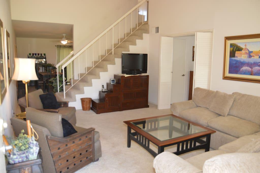 Living room with Plasma TV
