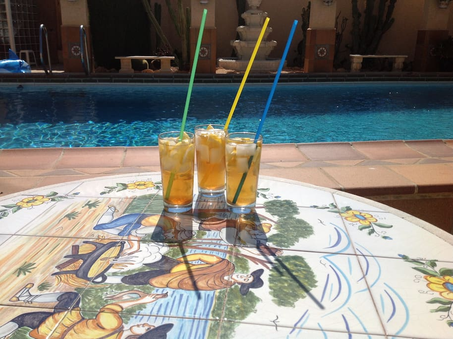 Cocktails by the pool is mandatory