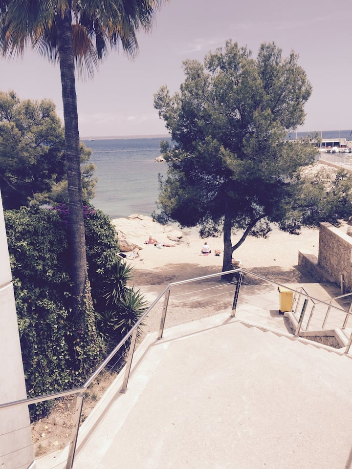 new renovated flat 50 m from beach