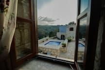 Outstanding mountain view from the bedroom