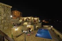 Aliki's house by night!