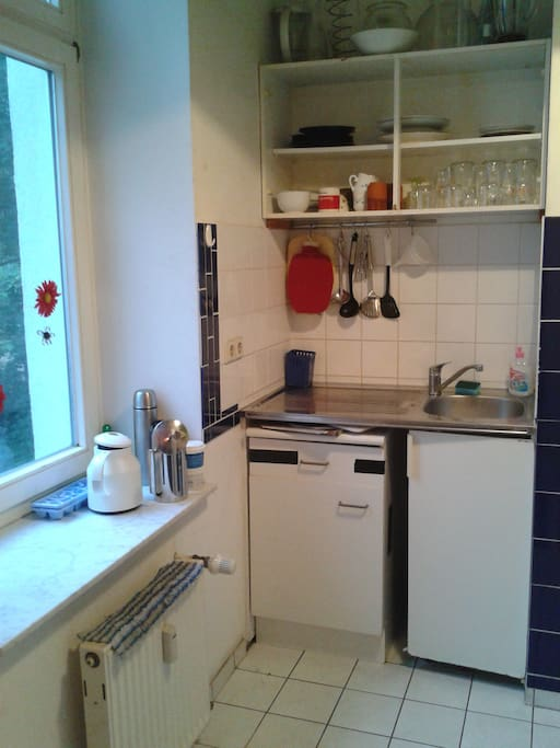 kitchen: it is small but has everything you need
