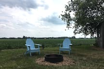 Firepit and a pair of muskoka chairs - we provide the wood!