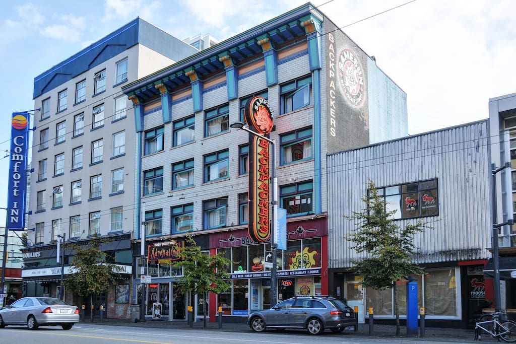 Welcome to Vancouver's SameSun Backpackers.  Located in the heart of downtown.