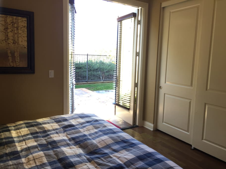 Room #101 with closet and direct access to backyard