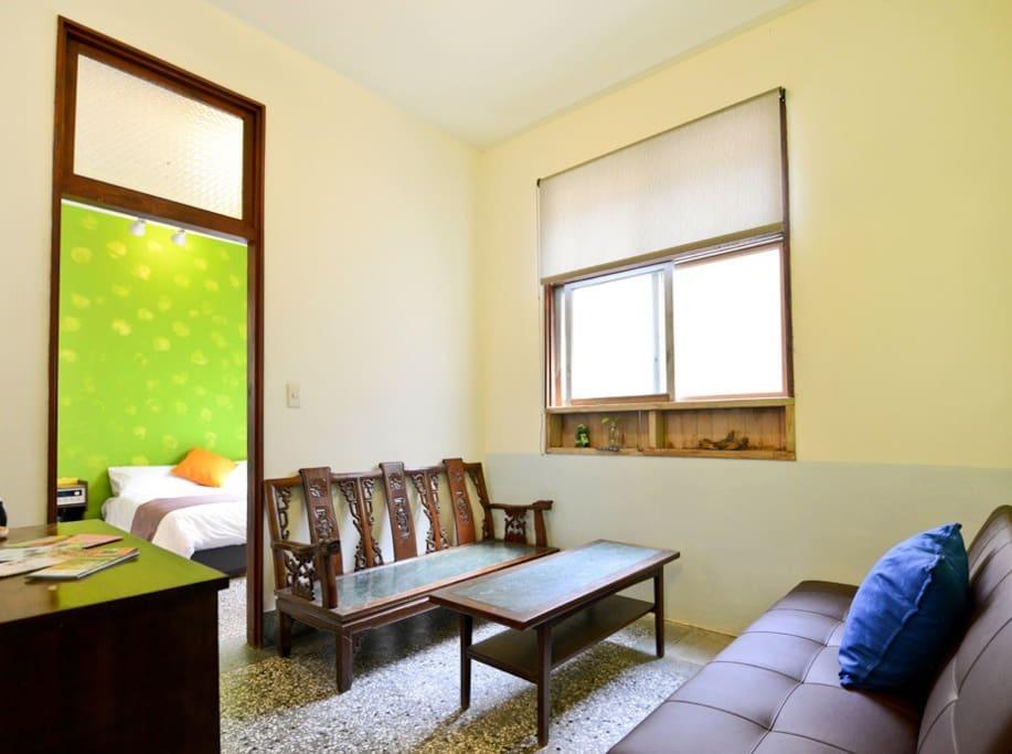 溫馨綠房-小客廳