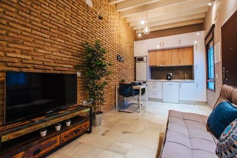 Stilig leilighet i Triana (med parkering)
