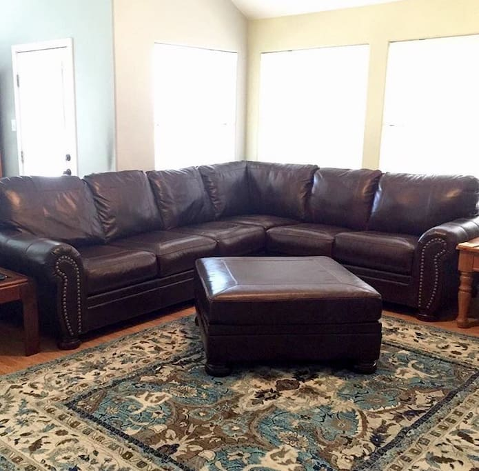 Large genuine leather couch